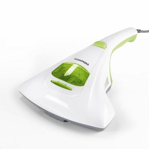 CLEANmaxx huismijtkruimeldief met UV-C-licht wit/limegreen
